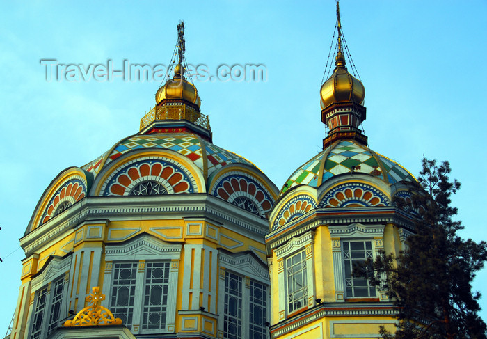 kazakhstan240: Kazakhstan, Almaty:  Holy Ascension Russian Orthodox Cathedral - domes - photo by M.Torres - (c) Travel-Images.com - Stock Photography agency - Image Bank