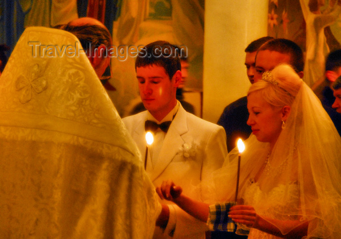 kazakhstan241: Kazakhstan, Almaty:  Holy Ascension Russian Orthodox Cathedral - wedding - exchanging rings - photo by M.Torres - (c) Travel-Images.com - Stock Photography agency - Image Bank