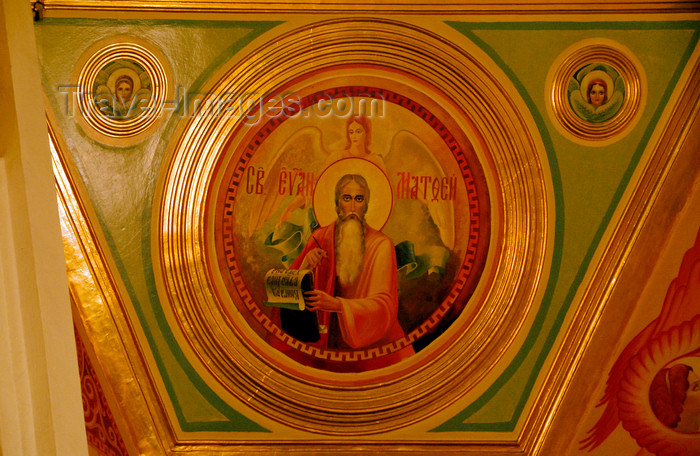 kazakhstan245: Kazakhstan, Almaty:  Holy Ascension Russian Orthodox Cathedral - Saint Matthew the Evangelist - photo by M.Torres - (c) Travel-Images.com - Stock Photography agency - Image Bank