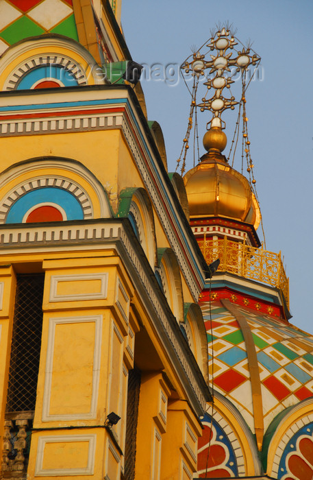 kazakhstan252: Kazakhstan, Almaty:  Holy Ascension Russian Orthodox Cathedral - Zenkov's architecture - called Turkistan Cathedral, in the old Verny  - photo by M.Torres - (c) Travel-Images.com - Stock Photography agency - Image Bank