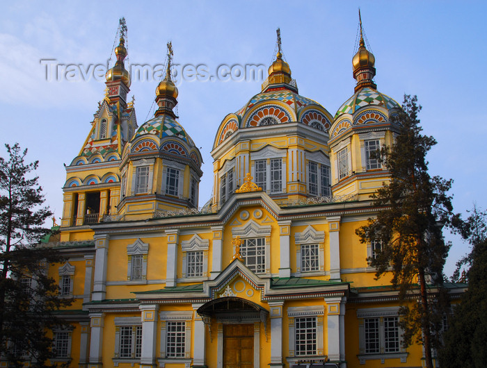 kazakhstan256: Kazakhstan, Almaty:  Holy Ascension Russian Orthodox Cathedral - side view - photo by M.Torres - (c) Travel-Images.com - Stock Photography agency - Image Bank