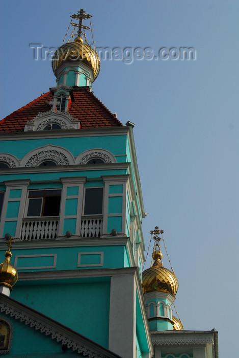 kazakhstan258: Kazakhstan, Almaty:  St Nicholas Church - Russian Orthodox - Nikolsky Sobor - Bell Tower - photo by M.Torres - (c) Travel-Images.com - Stock Photography agency - Image Bank