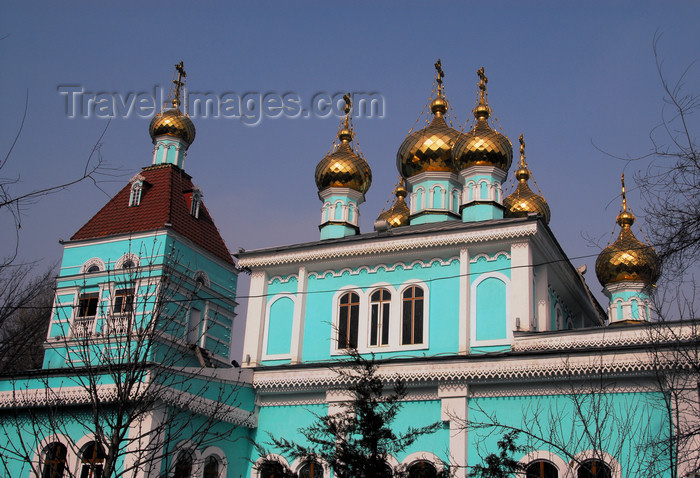 kazakhstan260: Kazakhstan, Almaty:  St Nicholas Church - Russian Orthodox - Nikolsky Sobor - built in 1909 - photo by M.Torres - (c) Travel-Images.com - Stock Photography agency - Image Bank