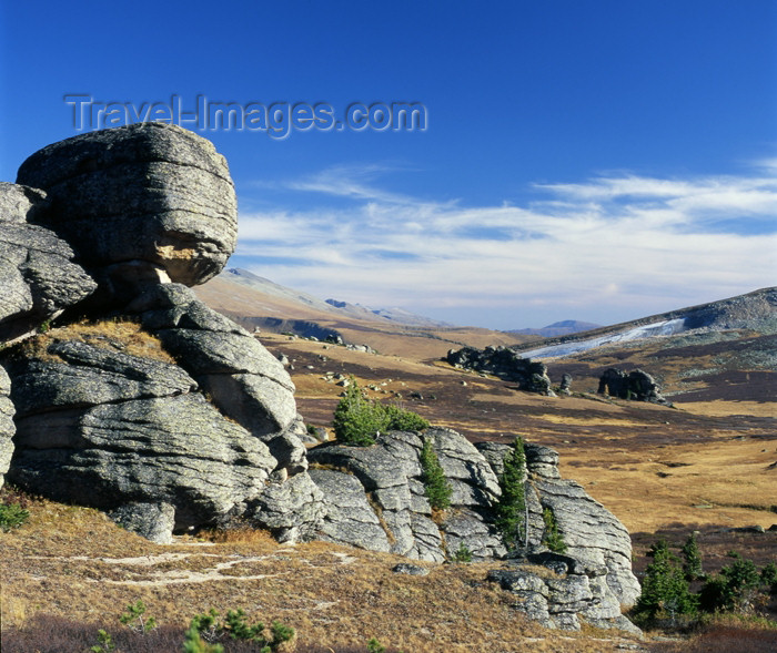 kazakhstan27: CIS - Kazakhstan - East Kazakhstan oblys - Altay Mountains: island of stones - rock outcrop - photo by V.Sidoropolev - (c) Travel-Images.com - Stock Photography agency - Image Bank
