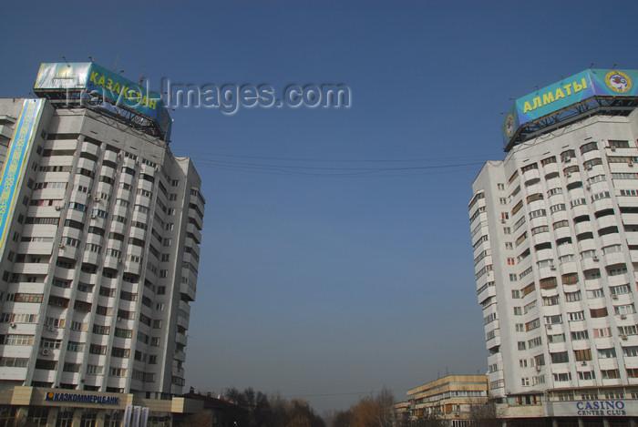 kazakhstan277: Kazakhstan, Almaty: Republic square - towers - photo by M.Torres - (c) Travel-Images.com - Stock Photography agency - Image Bank