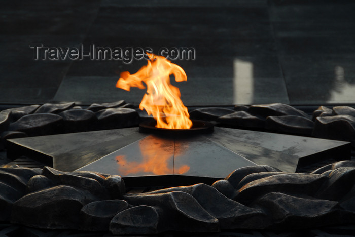 kazakhstan291: Kazakhstan, Almaty: 28 Panfilov Heroes' Park - Eternal Flame - photo by M.Torres - (c) Travel-Images.com - Stock Photography agency - Image Bank