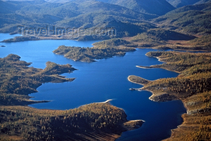 kazakhstan30: Kazakhstan - Maloulbinskoe reservoir from the air - photo by V.Sidoropolev - (c) Travel-Images.com - Stock Photography agency - Image Bank