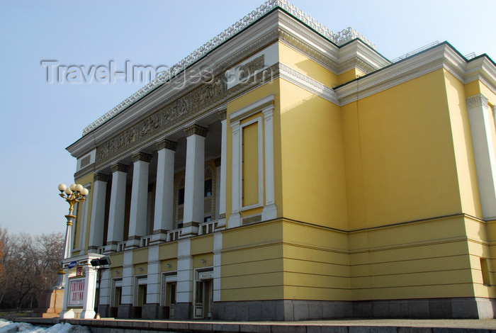kazakhstan300: Kazakhstan, Almaty: Almaty Opera and Ballet Theater - façade - photo by M.Torres - (c) Travel-Images.com - Stock Photography agency - Image Bank