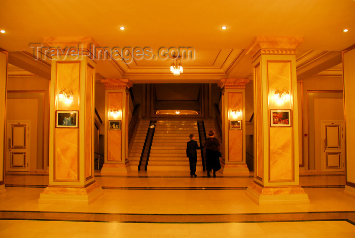 kazakhstan308: Kazakhstan, Almaty: Almaty Opera and Ballet Theater - stairs - photo by M.Torres - (c) Travel-Images.com - Stock Photography agency - Image Bank