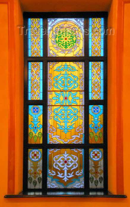 kazakhstan310: Kazakhstan, Almaty: Almaty Opera and Ballet Theater - stained glass window - photo by M.Torres - (c) Travel-Images.com - Stock Photography agency - Image Bank