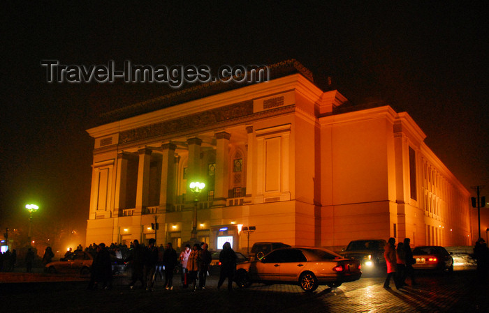 kazakhstan314: Kazakhstan, Almaty: Almaty Opera and Ballet Theater - at night - photo by M.Torres - (c) Travel-Images.com - Stock Photography agency - Image Bank