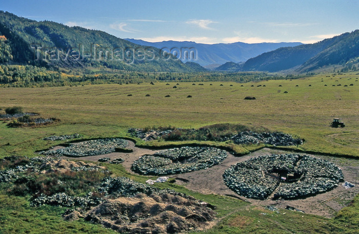 kazakhstan32: Kazakhstan - Berel - East Kazakhstan oblys: Kurgan - Scythian tombs - Tsar's valley  cemetery - Bukhtarma valley - foothills of the Altai mountains - photo by V.Sidoropolev - (c) Travel-Images.com - Stock Photography agency - Image Bank