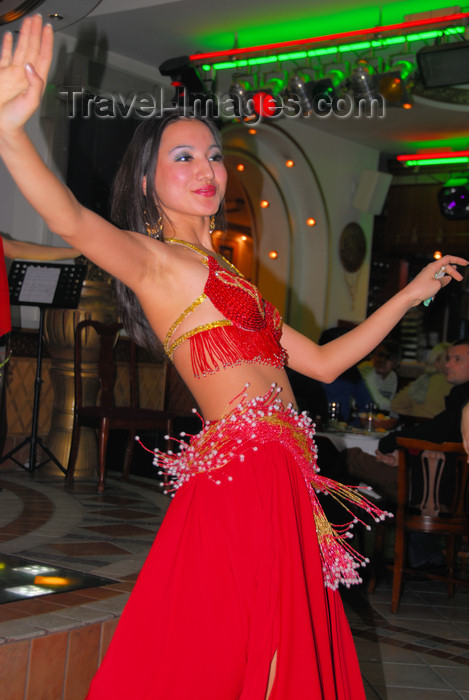 kazakhstan330: Kazakhstan, Almaty: belly dancer - photo by M.Torres - (c) Travel-Images.com - Stock Photography agency - Image Bank