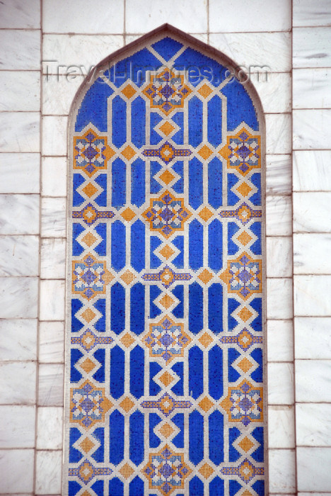 kazakhstan333: Kazakhstan, Almaty:  Central Mosque - niche decorared with tiles, facing Pushkin street - photo by M.Torres - (c) Travel-Images.com - Stock Photography agency - Image Bank