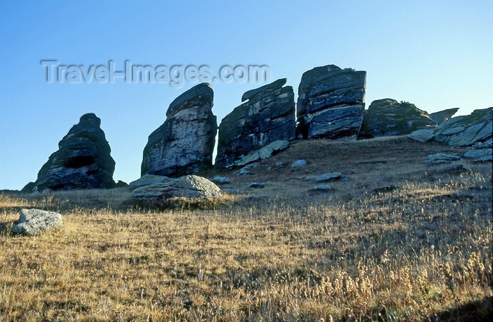 kazakhstan35: CIS - Kazakhstan, Altay Mountains: rock outcrop - photo by V.Sidoropolev - (c) Travel-Images.com - Stock Photography agency - Image Bank
