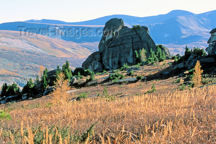 kazakhstan37: Kazakhstan- Altay Mountains: rock island - photo by V.Sidoropolev - (c) Travel-Images.com - Stock Photography agency - Image Bank
