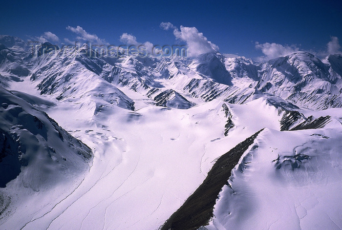 kazakhstan51: Kazakhstan - Tian Shan mountain range: mountains and the beginning of a glacier valley - photo by E.Petitalot - (c) Travel-Images.com - Stock Photography agency - Image Bank