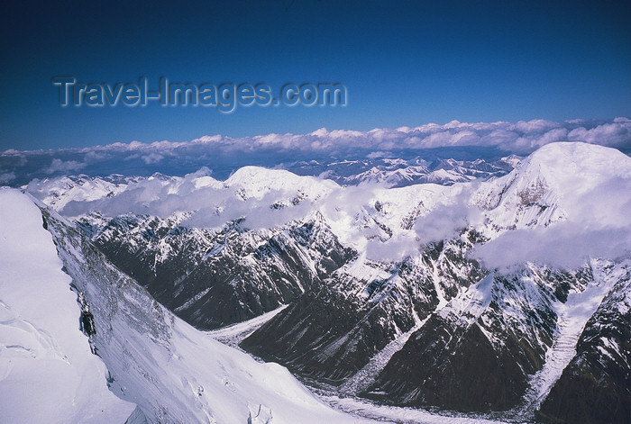kazakhstan53: Kazakhstan - Tian Shan mountain range: landscape from a summit - photo by E.Petitalot - (c) Travel-Images.com - Stock Photography agency - Image Bank