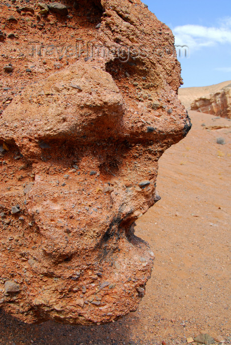 kazakhstan64: Kazakhstan, Charyn Canyon: Valley of the Castles - scary face - rock sculpture - photo by M.Torres - (c) Travel-Images.com - Stock Photography agency - Image Bank