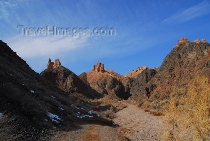 kazakhstan87: Kazakhstan, Charyn Canyon: Valley of the Castles - three 'castles' - photo by M.Torres - (c) Travel-Images.com - Stock Photography agency - Image Bank