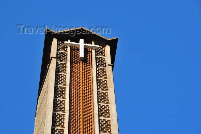 kenya105: Nairobi, Kenya: Holy Family Cathedral Basilica - bell tower- photo by M.Torres - (c) Travel-Images.com - Stock Photography agency - Image Bank