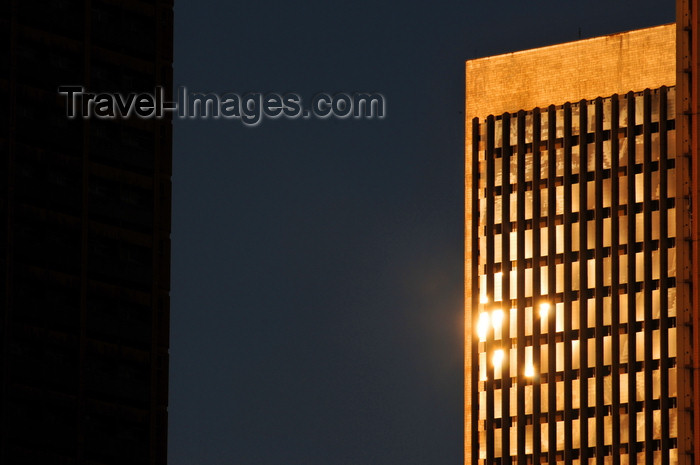 kenya111: Nairobi, Kenya: sun on the falade of the Teleposta Towers - Ministry of Information and Communications - photo by M.Torres - (c) Travel-Images.com - Stock Photography agency - Image Bank
