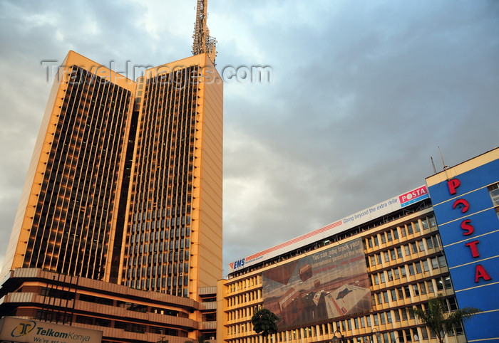 kenya116: Nairobi, Kenya: Teleposta Towers - Telcom House, 120m tall, headquarters of Telkom and Posta House - Nairobi General Post Office - Kenyatta Ave - photo by M.Torres - (c) Travel-Images.com - Stock Photography agency - Image Bank