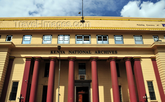 kenya132: Nairobi, Kenya: Kenya National Archive - originally the Bank of India building, later National and Grindlay's Bank - Moi Ave - photo by M.Torres - (c) Travel-Images.com - Stock Photography agency - Image Bank