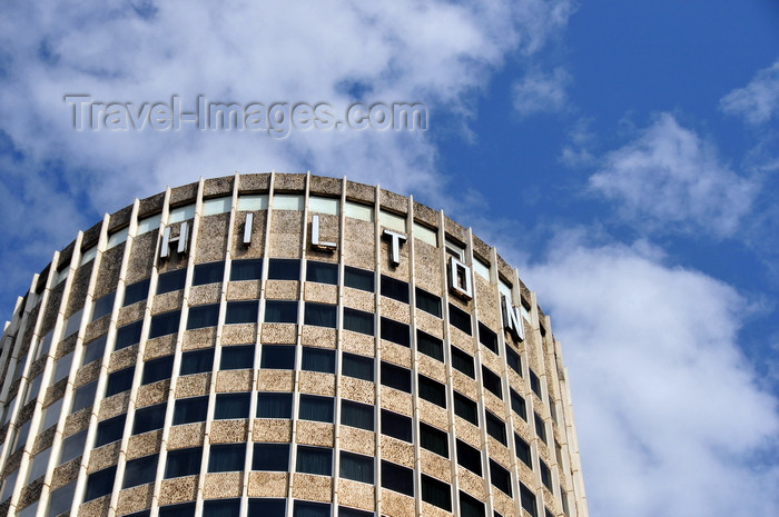 kenya135: Nairobi, Kenya: Hilton hotel - sign at the top of the tower - photo by M.Torres - (c) Travel-Images.com - Stock Photography agency - Image Bank