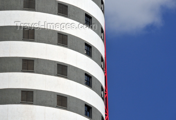 kenya141: Nairobi, Kenya: Nation Centre - black and white stripes - Kimathi Street- photo by M.Torres - (c) Travel-Images.com - Stock Photography agency - Image Bank