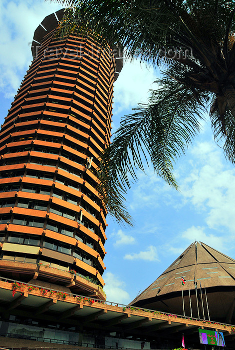 kenya20: Nairobi, Kenya: corn-cob style tower - Kenyatta International Conference Center - KICC - City Square - architect Karl H. Nostvik - Harambee Avenue - central business district - COMESA grounds - photo by M.Torres - (c) Travel-Images.com - Stock Photography agency - Image Bank