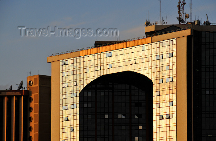 kenya23: Nairobi / NBO /WIL, Kenya: glass curtain façades - View Park and Hazina Towers - Uhuru Way, near University Way - Central Business District - photo by M.Torres - (c) Travel-Images.com - Stock Photography agency - Image Bank