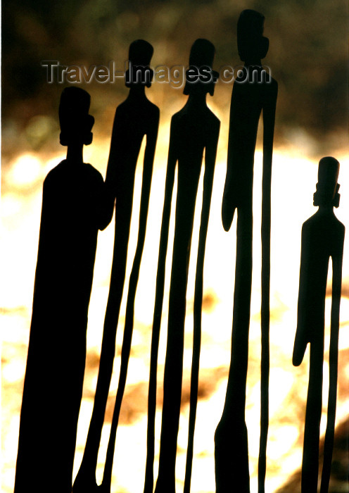 kenya49: Kenya - silhouettes of wooden sculptures - Kenyan art - photo by Francisca Rigaud - (c) Travel-Images.com - Stock Photography agency - Image Bank
