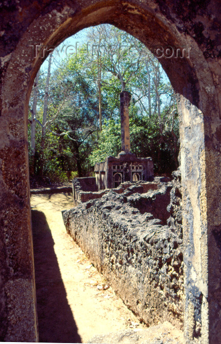 kenya71: East Africa - Kenya - Gede / Gedi - Malindi district, Coast province: Gedi ruins - a fusion of Swahili architecture and Arabic styles - photo by F.Rigaud - (c) Travel-Images.com - Stock Photography agency - Image Bank