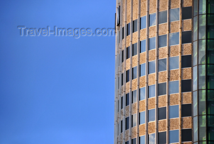 kenya83: Nairobi, Kenya: Hilton hotel - detail of the cylindrical tower - Mama Ngina St - photo by M.Torres - (c) Travel-Images.com - Stock Photography agency - Image Bank