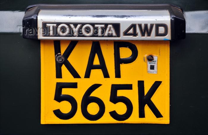kenya94: Nairobi, Kenya: Kenyan license plate - Toyota 4WD- photo by M.Torres - (c) Travel-Images.com - Stock Photography agency - Image Bank