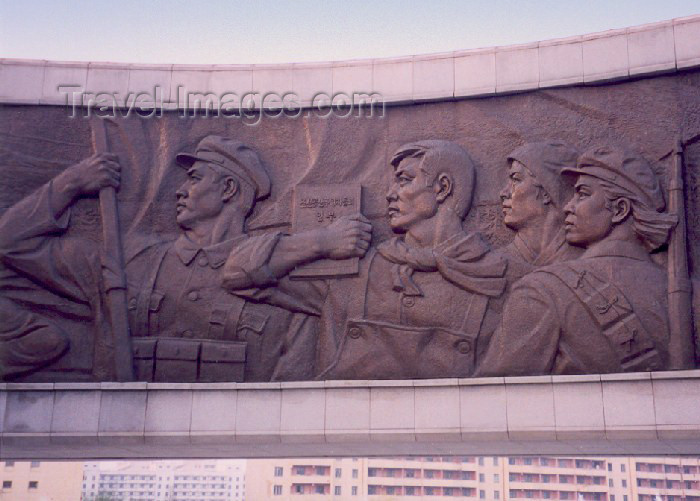 korean101: North Korea / DPRK - Pyongyang / FNJ: Monument to Party Foundation - Korean Workers' Party - bas-relief frieze - revolutionary art - photo by M.Torres - (c) Travel-Images.com - Stock Photography agency - Image Bank