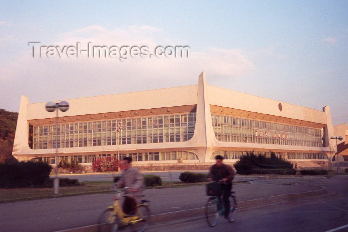 korean108: North Korea / DPRK - Pyongyang: Table tennis (ping pong) Gymnasium - Chongchun street (photo by M.Torres) - (c) Travel-Images.com - Stock Photography agency - Image Bank