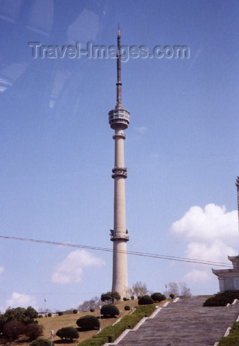 korean128: Pyongyang: Television Tower (photo by M.Torres) - (c) Travel-Images.com - Stock Photography agency - Image Bank