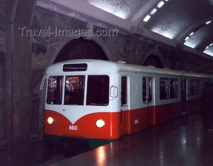 korean140: North Korea / DPRK - Pyongyang: the Metro - former German metro car at Puhung station (West-Berlin - 1960) (photo by M.Torres) - (c) Travel-Images.com - Stock Photography agency - Image Bank