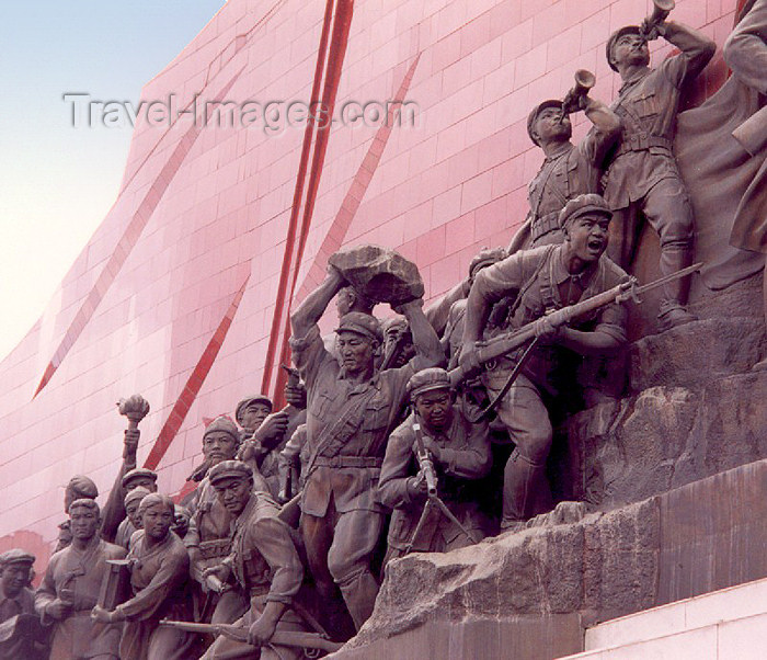 korean34: Pyongyang: Mansudae Grand Monument - glory days of the revolution (photo by M.Torres) - (c) Travel-Images.com - Stock Photography agency - Image Bank