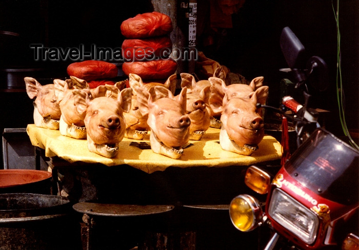 koreas36: Asia - South Korea - Busan / Pusan: hogs heads - food - photo by G.Frysinger - (c) Travel-Images.com - Stock Photography agency - Image Bank