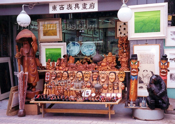 koreas5: Asia - South Korea - Seoul: Korean masks - shop in Insadong - photo by M.Torres - (c) Travel-Images.com - Stock Photography agency - Image Bank