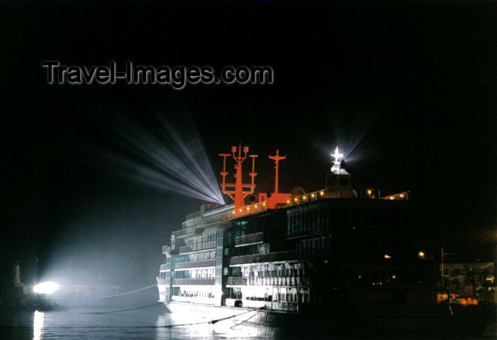 koreas51: Asia - South Korea - Busan / Pusan: hotel ship at night - photo by S.Lapides - (c) Travel-Images.com - Stock Photography agency - Image Bank
