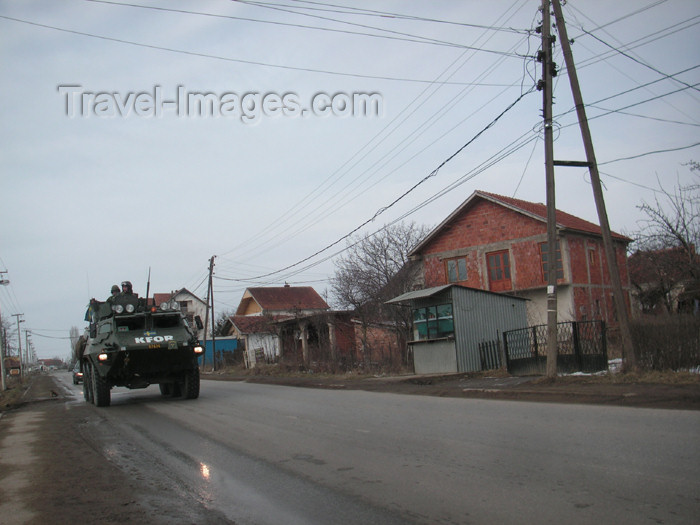 kosovo34: Kosovo: Swedish APC on patrol - photo by A.Kilroy - (c) Travel-Images.com - Stock Photography agency - Image Bank