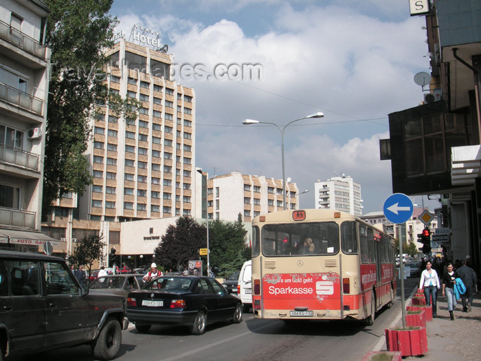 kosovo6: Kosovo - Pristina: traffic on Mother Theresa avenue - photo by A.Kilroy - (c) Travel-Images.com - Stock Photography agency - Image Bank