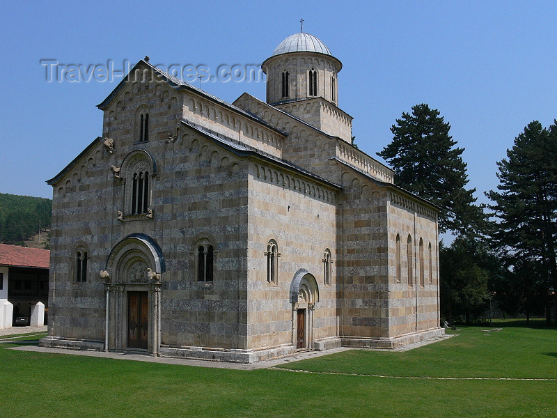 kosovo64: Kosovo - Visoki Decani - Pec district: Visoki Decani Serbian Orthodox Monastery - Christ Pantocrator cathedral - UNESCO World Heritage - photo by J.Kaman - (c) Travel-Images.com - Stock Photography agency - Image Bank
