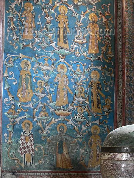 kosovo66: Kosovo - Visoki Decani - Pec district: Visoki Decani Serbian Orthodox Monastery - House of Nemanjic fresco - UNESCO World Heritage - photo by J.Kaman - (c) Travel-Images.com - Stock Photography agency - Image Bank