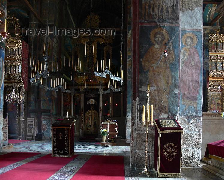 kosovo67: Kosovo - Visoki Decani - Pec district: Visoki Decani Serbian Orthodox Monastery - Cathedral interior - UNESCO World Heritage - photo by J.Kaman - (c) Travel-Images.com - Stock Photography agency - Image Bank
