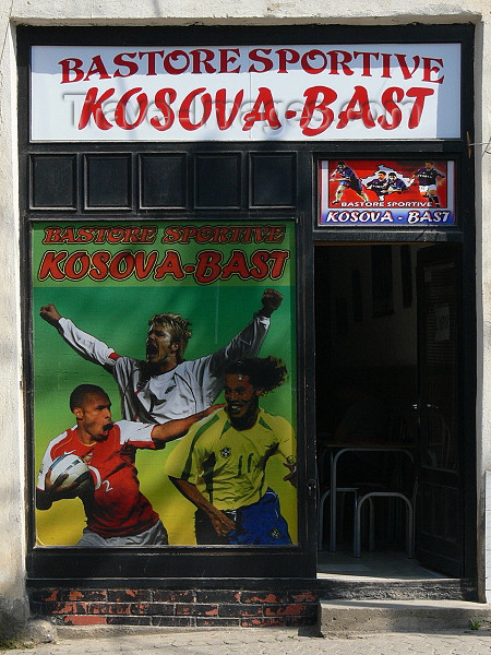 kosovo72: Kosovo - Prizren / Prizreni: sports shop - Bastore sportive Kosova Bast - photo by J.Kaman - (c) Travel-Images.com - Stock Photography agency - Image Bank